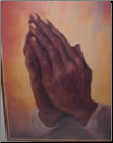 Praying Hands lighted picture