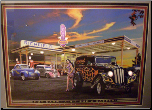 Hot Damn Ain't She A Gasser lighted print By Larry Grossman