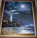 Lighthouse With Moon lit print