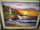 Lighthouse at Sunset lighted print