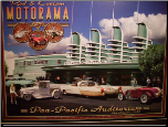 Pan Pacific Auditorium lit print by Larry Grossman