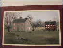 New England Saltbox lighted picture