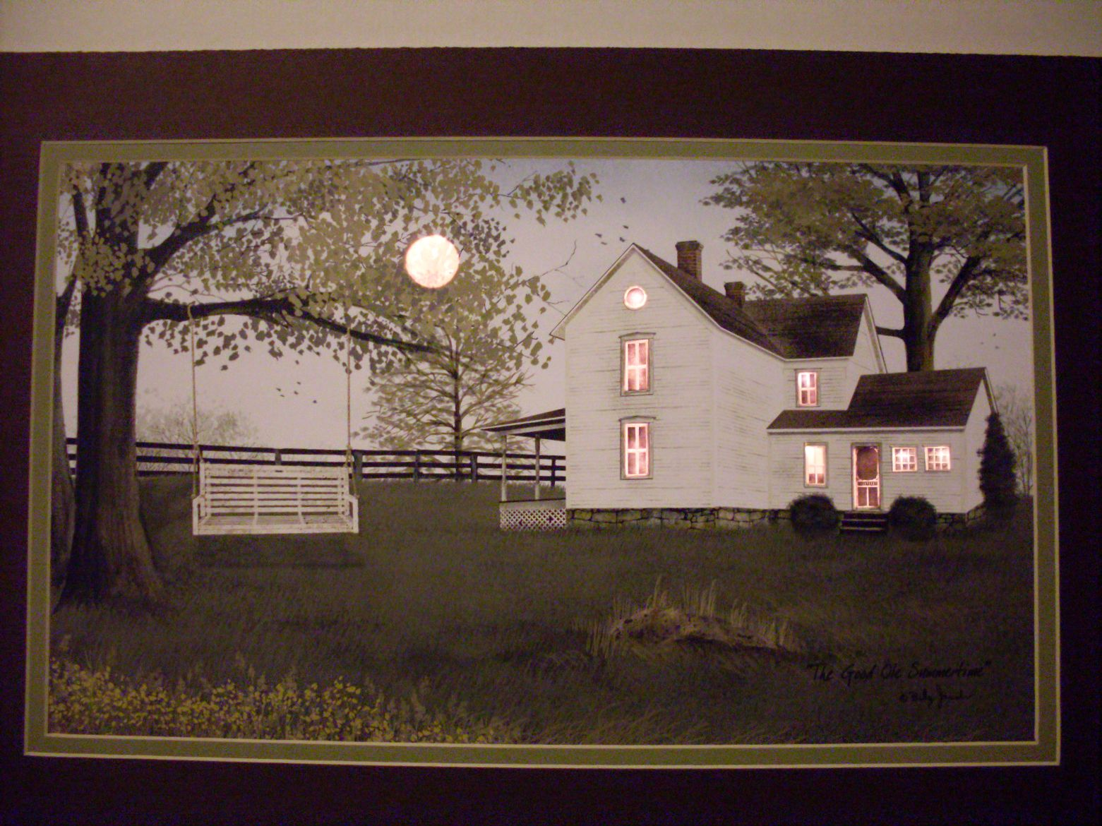 to grandma s house we go by billy jacobs art print framed